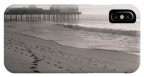 IPhone Case featuring the photograph Morning Walk On Old Orchard Beach by Dan Sproul