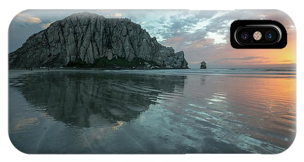Morro Rock Sunset IPhone Case