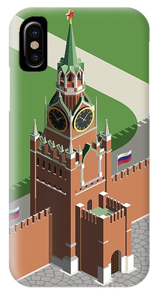 Famous People iPhone Case - Moscow Kremlin Tower by Nikola Knezevic