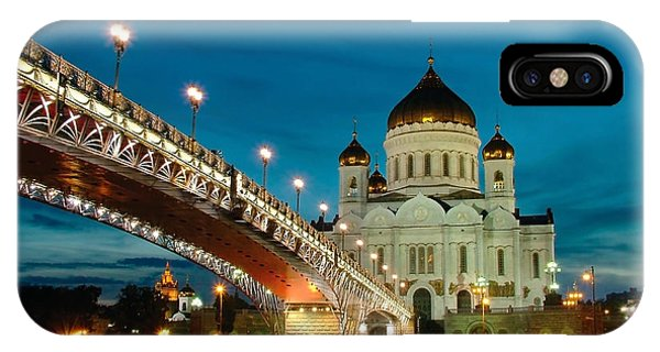Christianity iPhone Case - Moscow. Temple Of Christ Our Saviour by Vorobyeva Anna