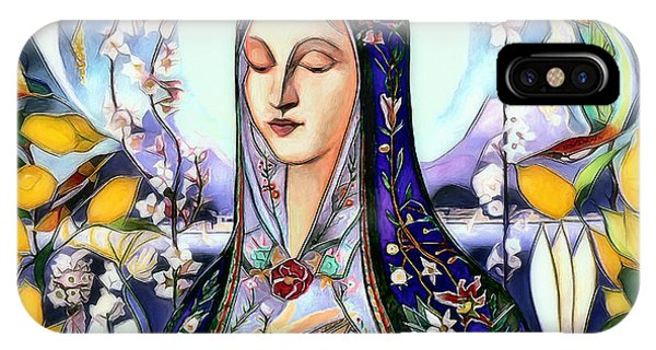 IPhone Case featuring the digital art Mother Mary by Pennie McCracken