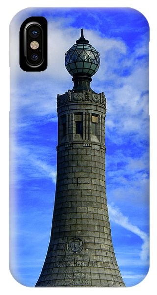 IPhone Case featuring the photograph Mount Greylock Tower With Clouds by Raymond Salani III