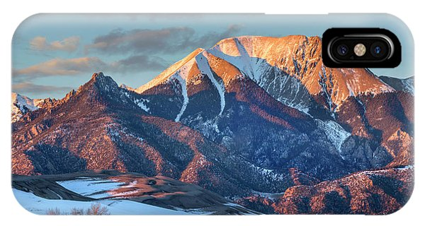 Sangre De Cristo iPhone Case - Mount Herard, Great Sand Dunes National by Tim Fitzharris