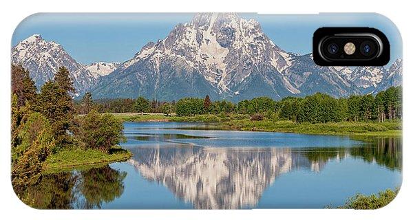 Rocky iPhone Case - Mount Moran On Snake River Landscape by Brian Harig