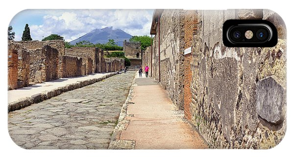 Mount Vesuvius And The Ruins Of Pompeii Italy IPhone Case