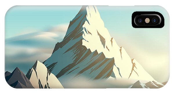 Ice iPhone Case - Mountain Illustration by D1sk