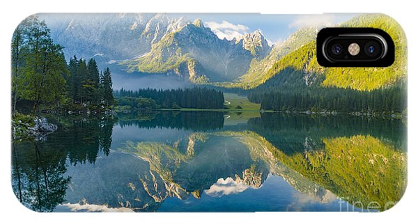 Banff iPhone Case - Mountain Lake,laghi Di Fusine,italian by Mike Mareen
