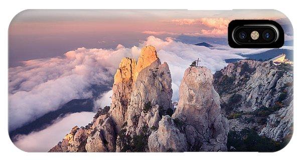 Beautiful Sunrise iPhone Case - Mountain Landscape At Sunset. Amazing by Denis Belitsky