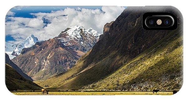 Patriotic iPhone Case - Mountain Landscape In The Andes, Peru by Calin Tatu
