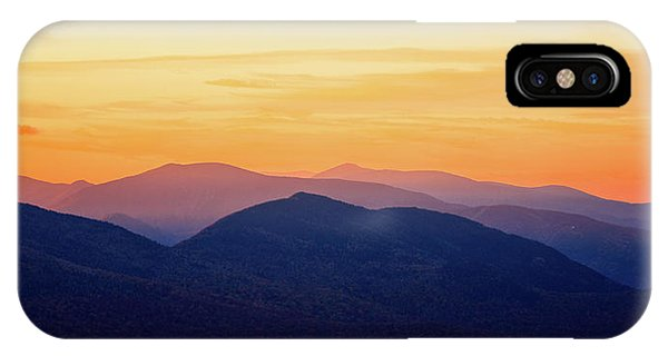 Mountain Light And Silhouette  IPhone Case