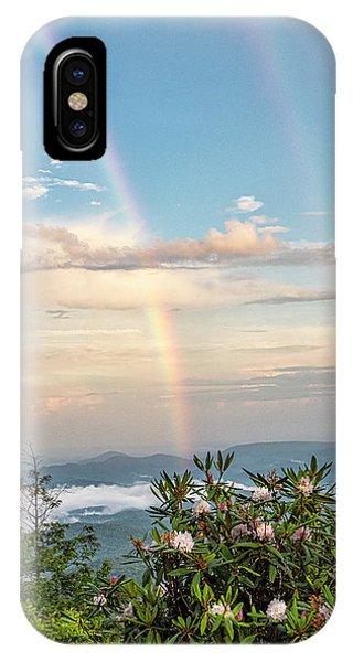 IPhone Case featuring the photograph Mountain Rainbow Vertical by Ken Barrett