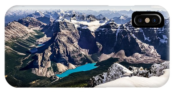 Banff iPhone Case - Mountain Range View From Mt Temple With by Martin M303