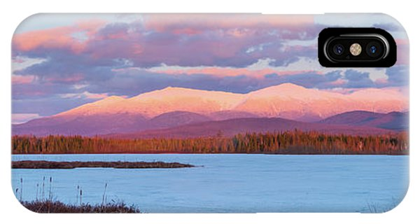 Mountain Views Over Cherry Pond IPhone Case