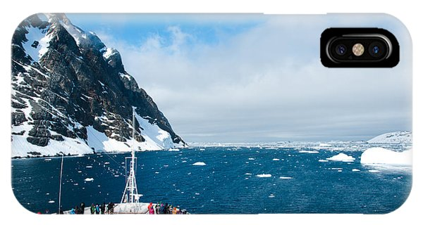 Achievement iPhone Case - Mountains And Cruise Ship In Antarctica by Ayamik