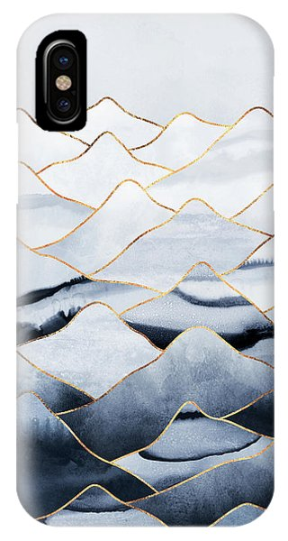 Winter iPhone Case - Mountains by Elisabeth Fredriksson