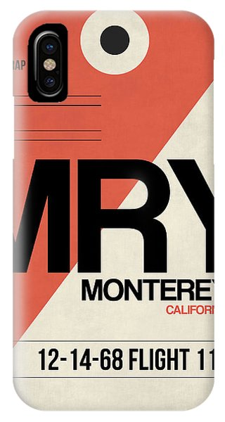Monterey iPhone Case - Mry Monterey Luggage Tag I by Naxart Studio