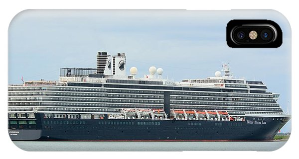 IPhone Case featuring the photograph Ms Zuiderdam At Port Canaveral by Bradford Martin