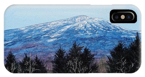 Mt. Monadnock Spring Snow IPhone Case