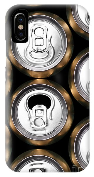 Container iPhone Case - Much Of Yellow Drinking Cans Close Up by Nneirda