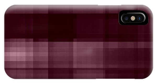 IPhone Case featuring the digital art Mulberry Plaid by Rachel Hannah