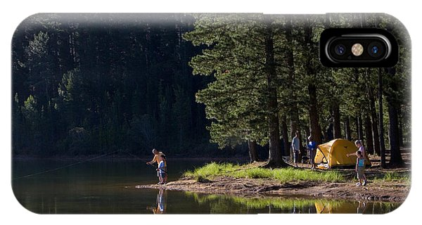 Sister iPhone Case - Multi-generational Family On Camping by Air Images