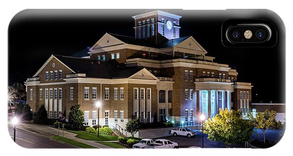 Municipal Center At Night - North Augusta Sc IPhone Case
