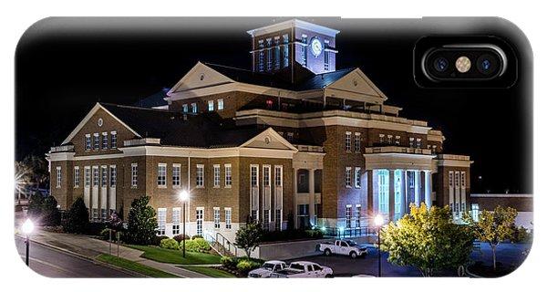 Municipal Center At Night - North Augusta Sc IPhone Case