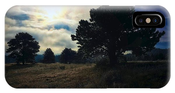 IPhone Case featuring the photograph Murky Atmosphere Elk Meadow by Dan Miller
