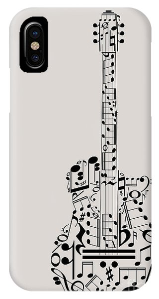 Staff iPhone Case - Music Guitar Concept Made With Musical by Archiwiz