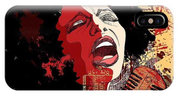Music Jazz - Afro American Jazz Singer Phone Case by Isaxar
