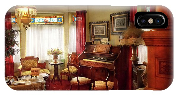 IPhone Case featuring the photograph Music - Organ - In The Parlor by Mike Savad