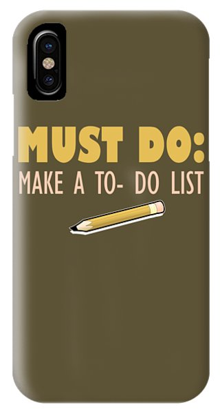 Must Do IPhone Case