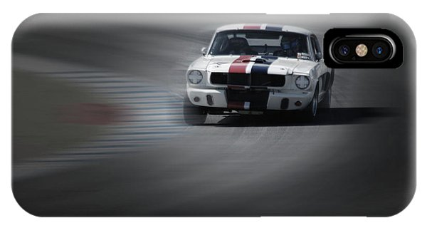Monterey iPhone Case - Mustang On The Racing Circuit by Naxart Studio