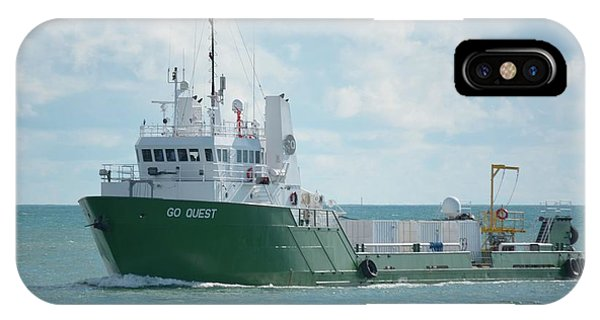 IPhone Case featuring the photograph Mv Go Quest-spacex Support Vessel by Bradford Martin