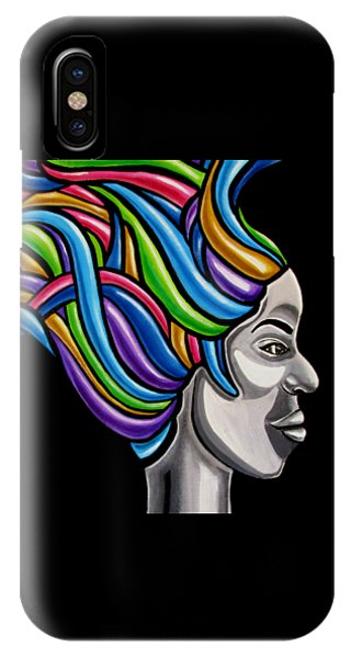 Abstract Face Painting Black Woman Art African Goddess Art Medusa Ai P. Nilson IPhone Case