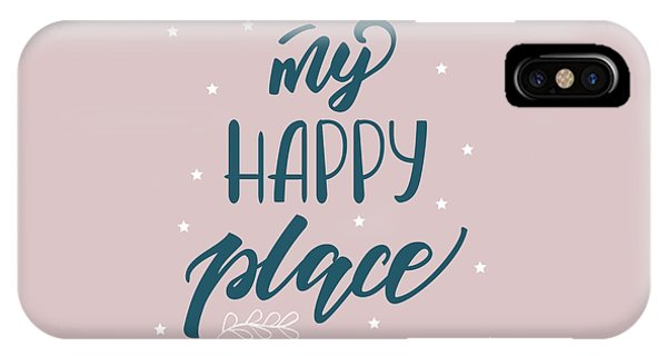 My Happy Place - Baby Room Nursery Art Poster Print IPhone Case