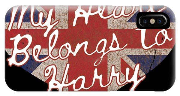 My Heart Belongs To Prince Harry IPhone Case