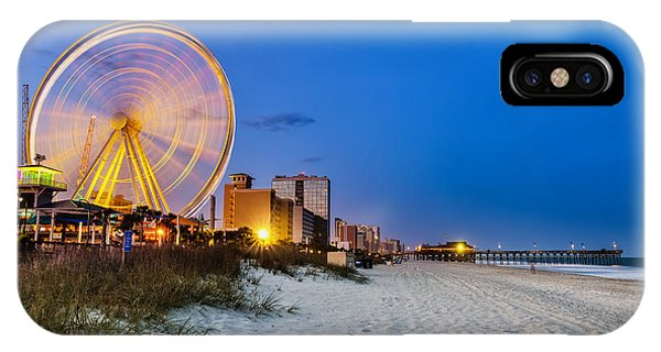 Dusk iPhone Case - Myrtle Beach, South Carolina, Usa City by Rob Hainer