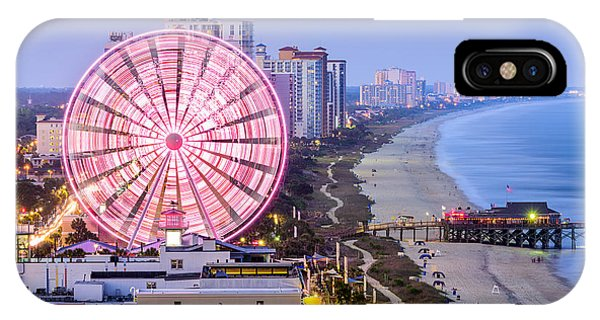 Dusk iPhone Case - Myrtle Beach, South Carolina, Usa City by Sean Pavone