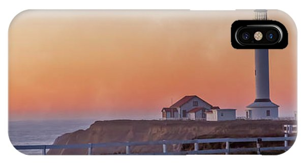 View Point iPhone Case - Mysterious Point Arena Lighthouse California  by Betsy Knapp