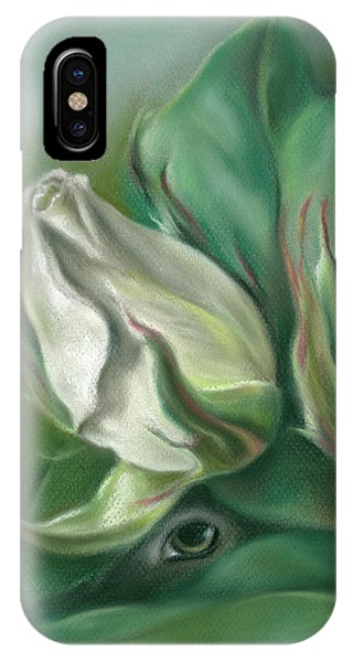 IPhone Case featuring the pastel Mystery In The Rose Garden by MM Anderson