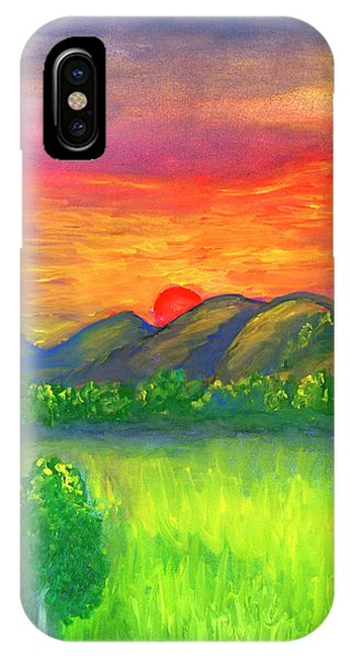 Mystical Red Sunset IPhone Case