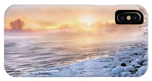 IPhone Case featuring the photograph Mystical Winter Morning by Leland D Howard