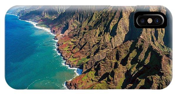 Travel Destination iPhone Case - Na Pali Coast, Kauai, Hawaii by Pierre Leclerc