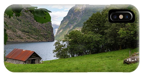 IPhone Case featuring the photograph Naeroyfjord, Norway by Andreas Levi