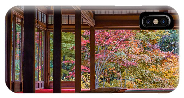 Orange Color iPhone Case - Nanzenji Temple Tenjyuan Of Autumn by Ryu K