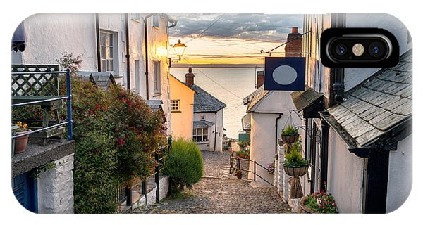 English Countryside iPhone Case - Narrow Cobbled Streets Lined With by Helen Hotson