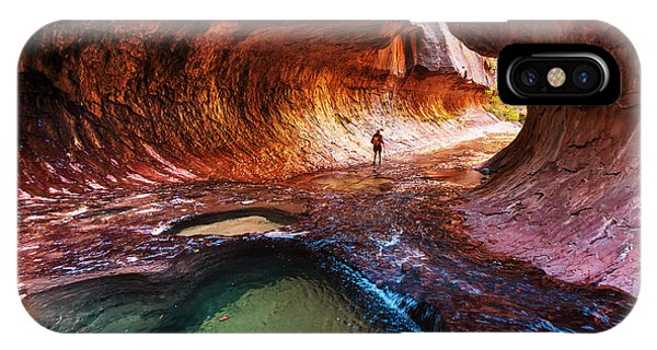 Red Rock iPhone X Case - Narrows In Zion National Park, Utah by Galyna Andrushko
