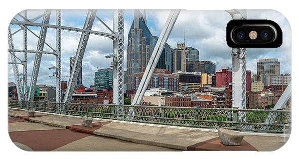 Nashville Cityscape From The Bridge IPhone Case