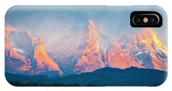 Red Rock iPhone X Case - National Park Torres Del Paine In by Kavram